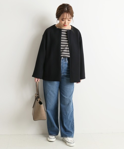 大阪|12月服装|ネイビーブルゾンコーデ