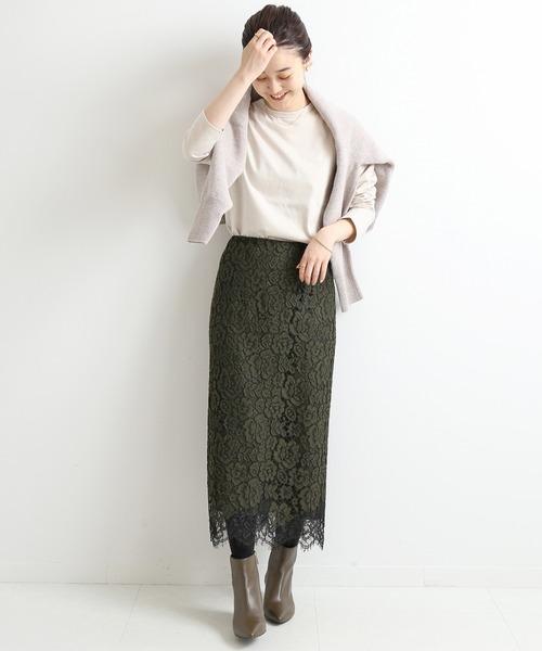 [IENA] レースタイトスカート