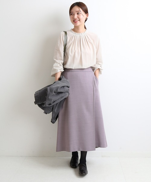 [IENA] ビエラトラペーズラップスカート◆