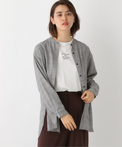 [LEPSIM] バンドカラーロングシャツ 892089