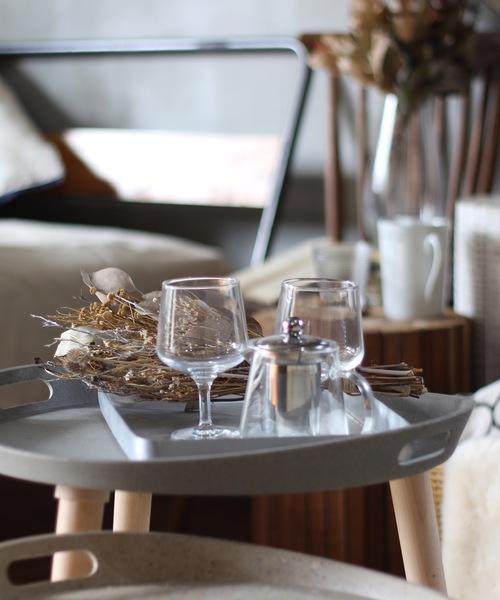 [a.depeche] Re:aseCo side tray table S straw /リ・アセコ サイド トレー テーブル Sサイズ / リサイクルサイドテーブル