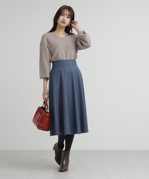 [N.(N. Natural Beauty Basic)] スモーキーフレアスカート