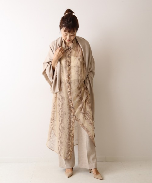 [Plage] 【MES DEMOISELLES/メドモアゼル】SP PYTHON OVER SIRTS ワンピース◆