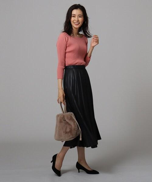 [UNTITLED] エコレザープリーツスカート