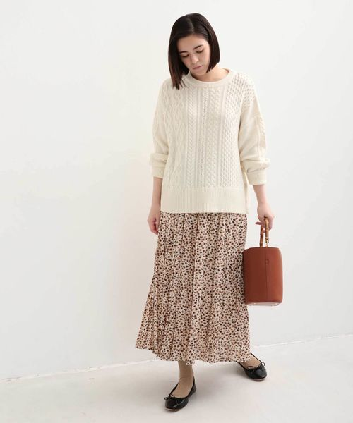 [Afternoon Tea LIVING] プリーツロングスカート
