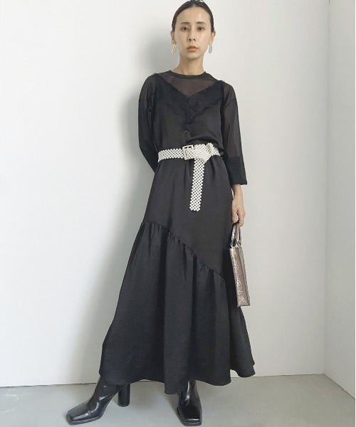 [Ameri VINTAGE] LADY LAYERED CAMI DRESS