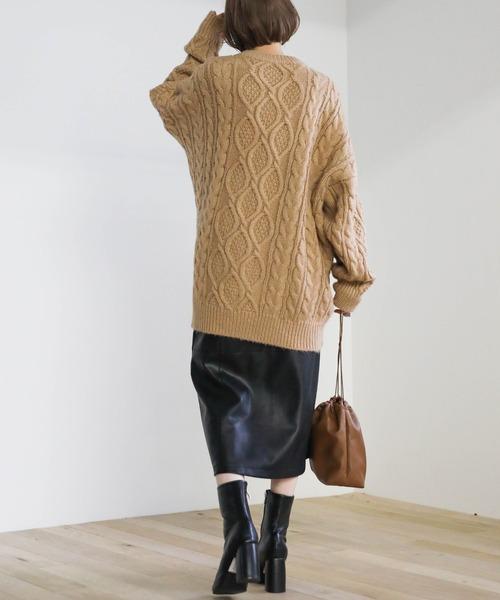 [select MOCA] 2020 A/W フェイクレザーフロントボタンタイトスカート(エコレザーフロントスナップボタンスカート)