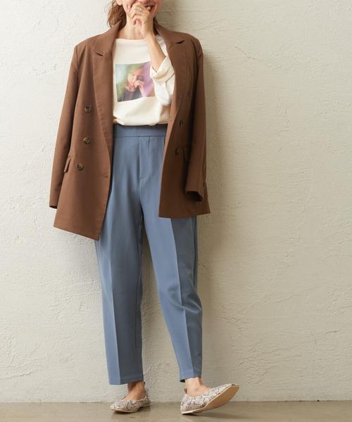 [natural couture] Wブレストおしゃれジャケット