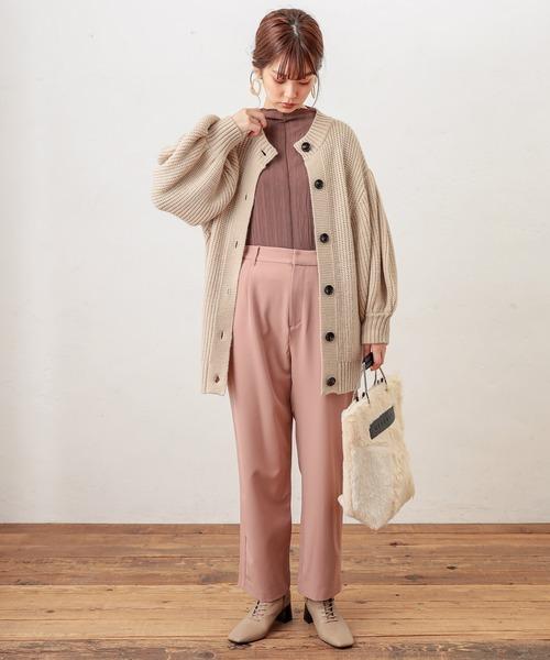 [natural couture] 美シルエットスラックスパンツLサイズ