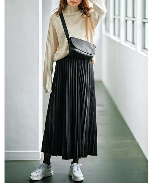 [GeeRA] 【20冬新着】スエードライクプリーツスカート