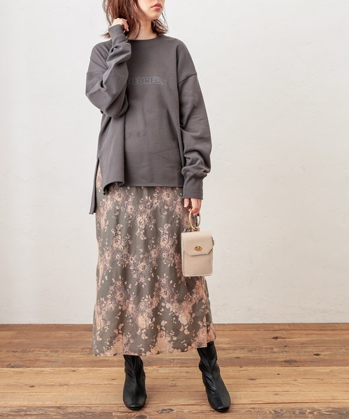 [natural couture] 大人ロゴスウェット