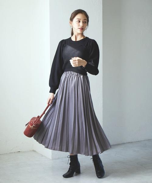 青上品スカートの服装