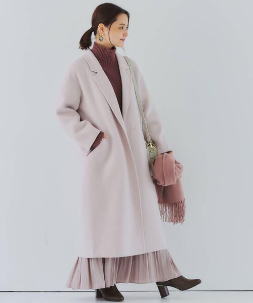 [green label relaxing] FFC カッセン ジョーゼット プリーツ スカート