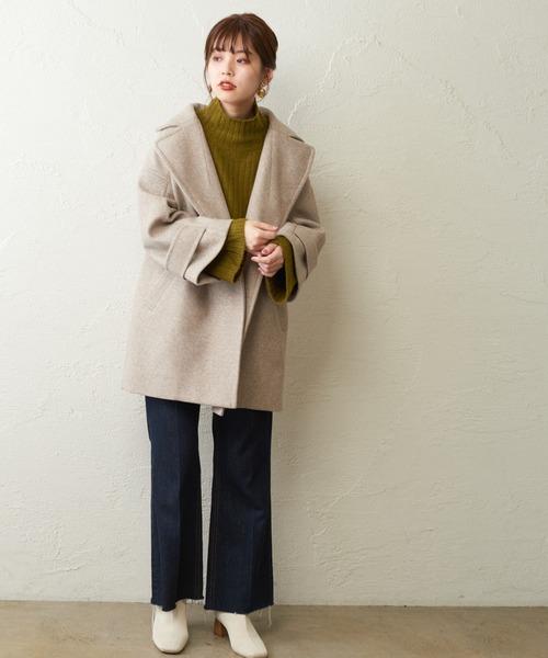[natural couture] 長さ変えられるフレアデニム