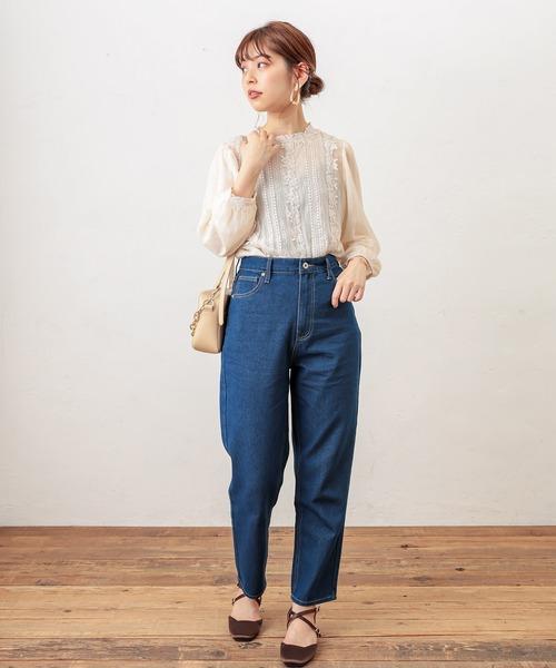 [natural couture] 【WEB限定】osono たっぷりレースクラシカルブラウス