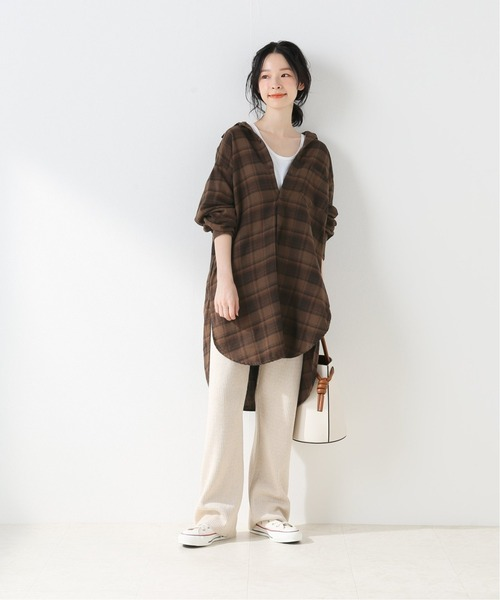 [Spick & Span] 【CP SHADES】Oversized check shirt
