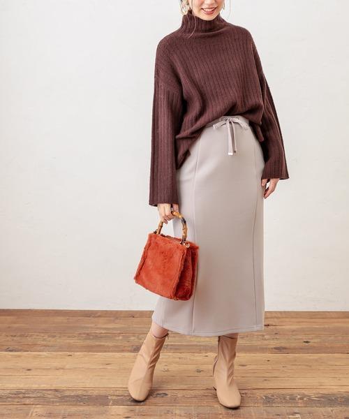 [natural couture] ふわもちラテスカート