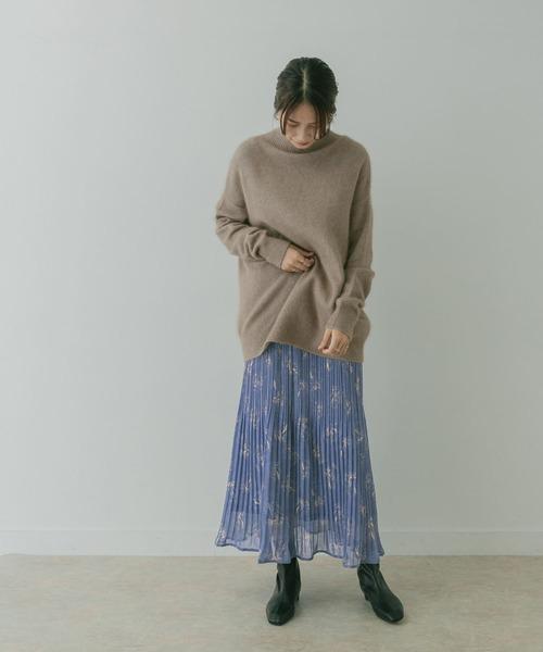 [KBF] KBF+ プリントプリーツスカート