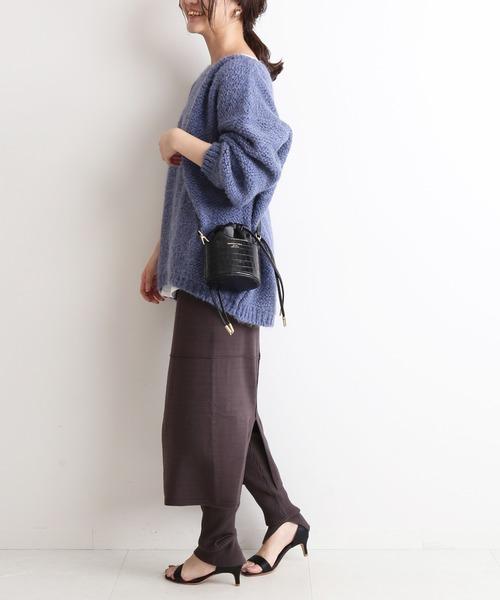 [IENA] レイヤードレギンススカート【手洗い可能/ウエストゴム】◆