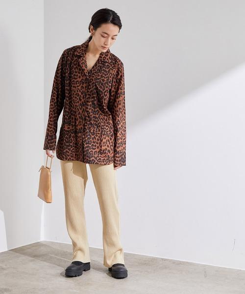 [ADAM ET ROPE'] 【GANNI】Printed Cottton Poplin Shirt