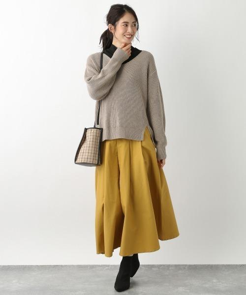 [Andemiu] タックロングスカート916520