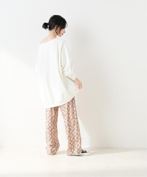 [IENA] 【SARA MALLIKA/サラマリカ】 PYTHON PRINT パンツ【手洗い可】