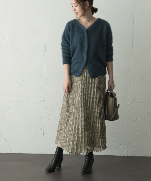 [URBAN RESEARCH ROSSO WOMEN] スネークプリントプリーツスカート