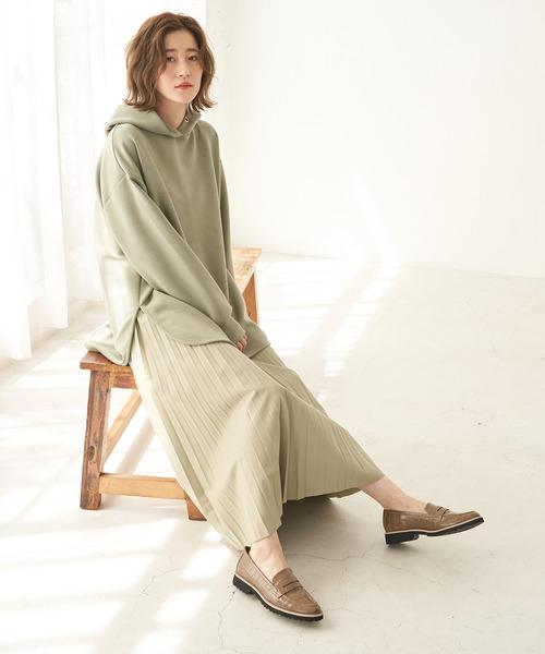 [ROPE' PICNIC] エコレザープリーツスカート