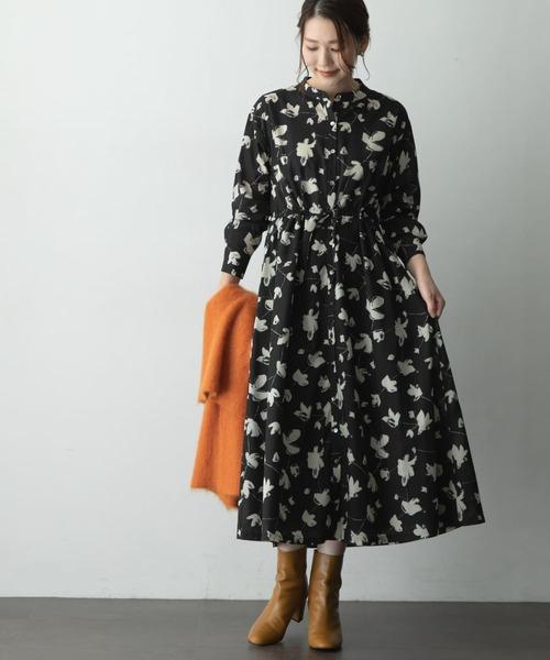 [URBAN RESEARCH ROSSO WOMEN] シャドーフラワープリントワンピース