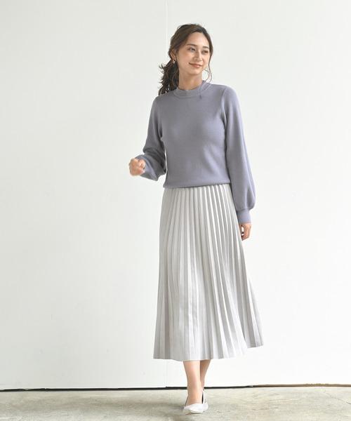 [rps] スウェードプリーツスカート