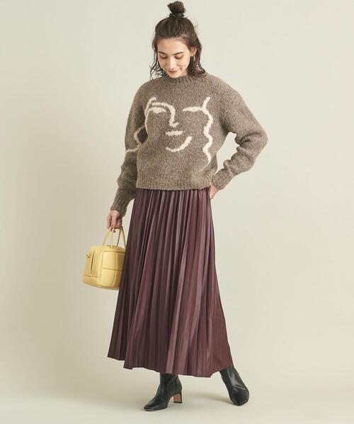 [BEAUTY&YOUTH UNITED ARROWS] BY シャイニーサテンプリーツスカート