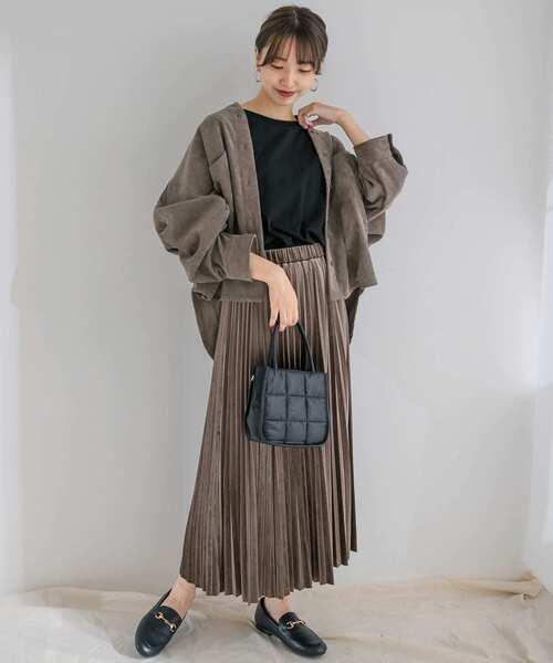 [ITEMS URBAN RESEARCH] ベロアプリーツスカート