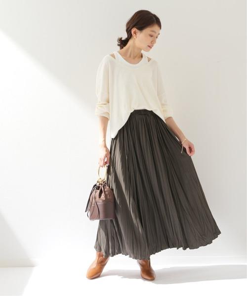 Spick & Span] ランダムシワプリーツスカート
