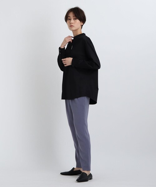 [INDIVI] 【褒められパンツ/洗える】STYLE UP PANTS タックテーパード