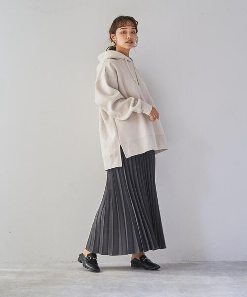 [coen] ウールライクプリーツスカート