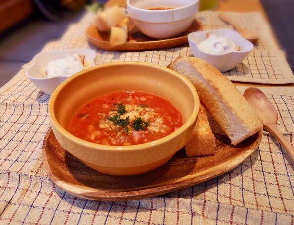 スープも野菜で塩分控えめ!ミネストローネ