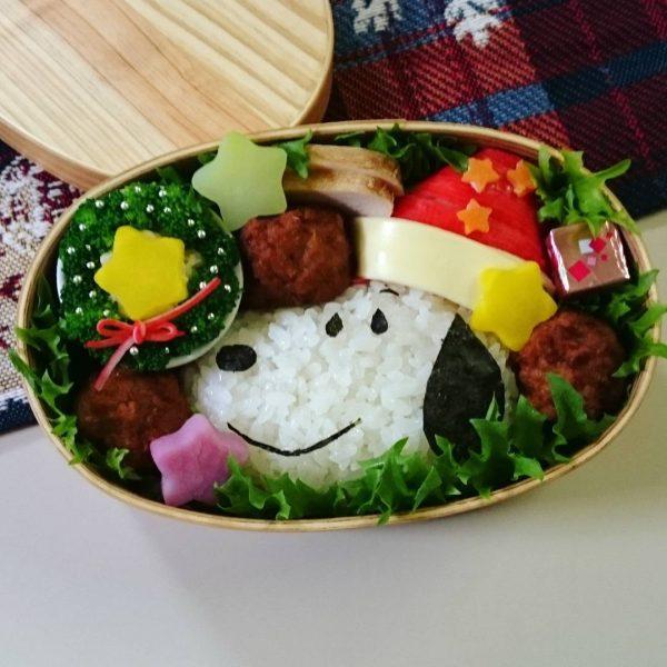スヌーピーサンタのクリスマス弁当