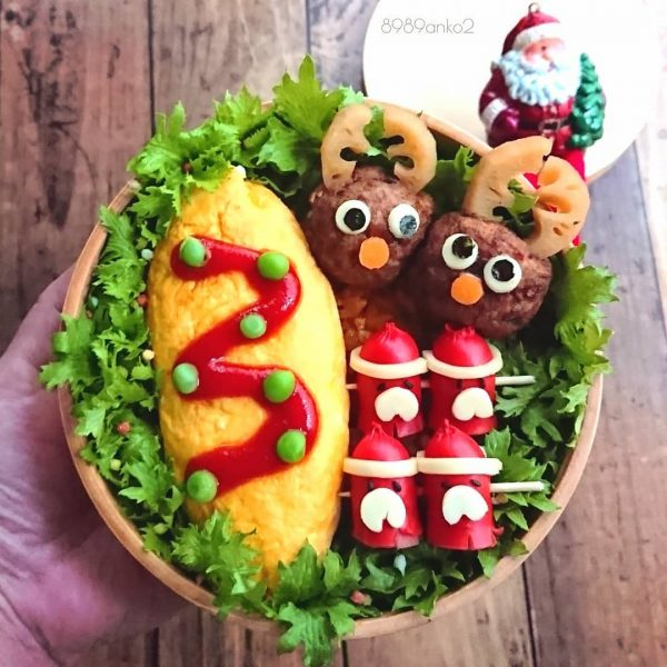 オムレツクリスマス弁当