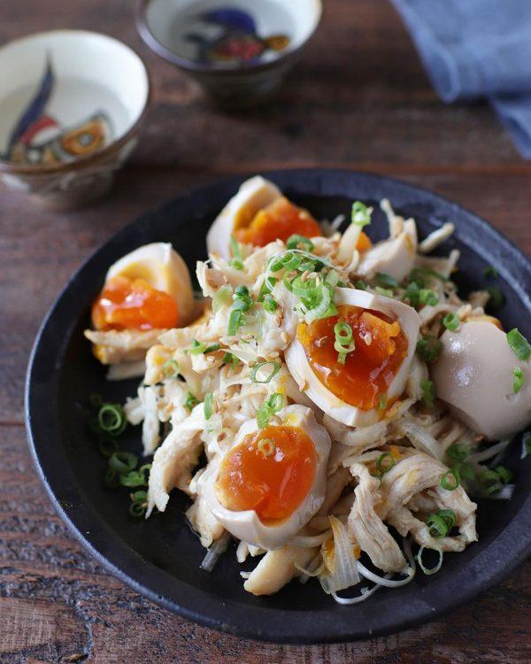 ぱぱっとつまみ!煮卵チキン