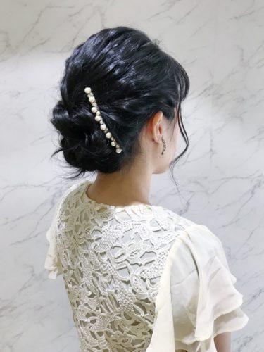 留袖に似合う50代女性の髪型《セミロング》2
