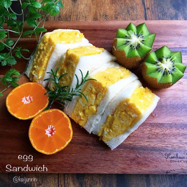 厚焼き卵のインスタ映えサンドイッチの作り方