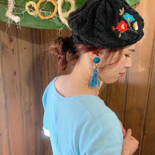ベレー帽に似合うロングヘアアレンジ【春夏】7