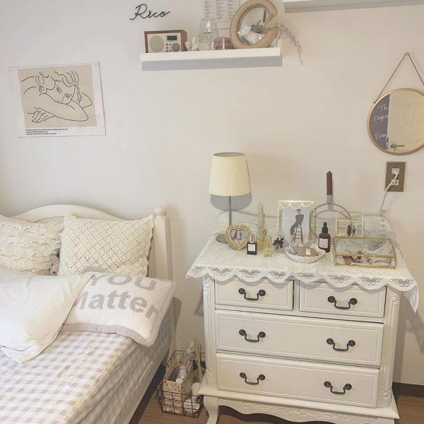 やわらかな雰囲気のベッドルーム
