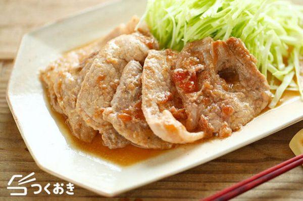 豚肉の梅ぽん焼き