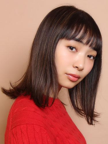 短め前髪×ミディアム12