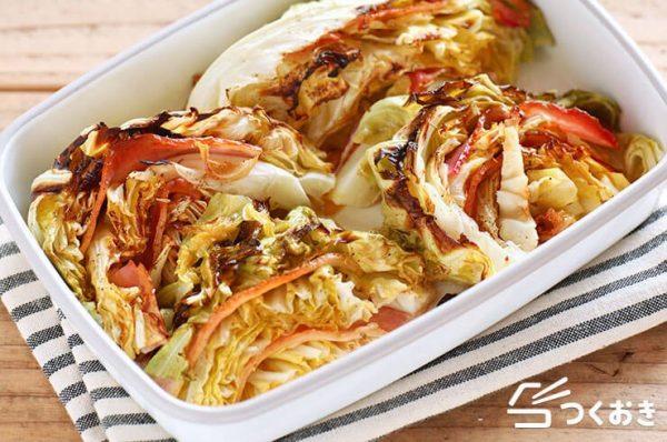 簡単料理。キャベツとベーコンのオーブン焼き