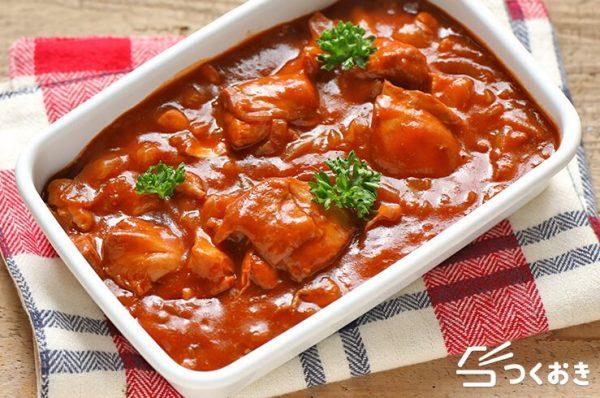 夕飯に。チキンのデミグラスソース煮
