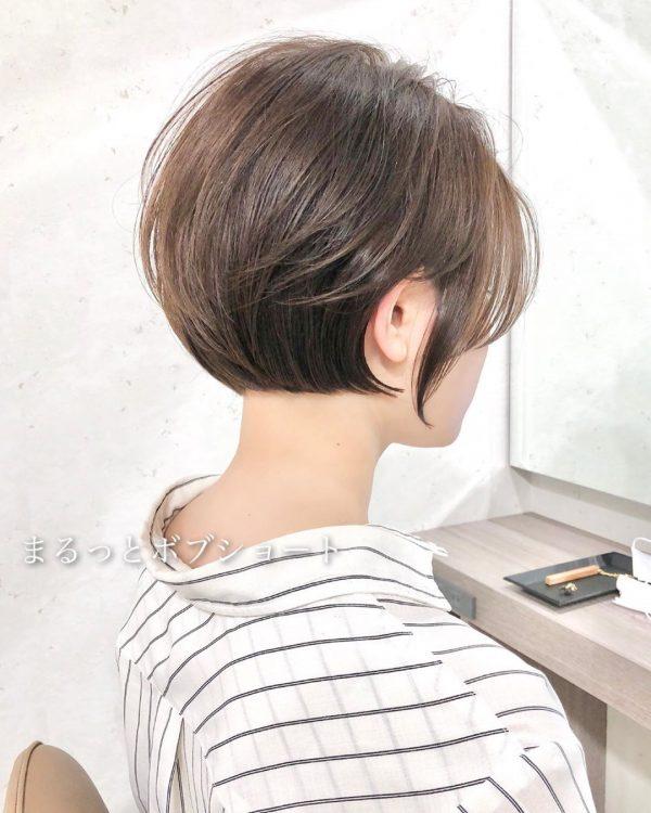 大人可愛い40代向けハンサムショートヘア