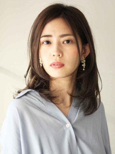 40代くせ毛×ミディアム髪型【前髪なし】7