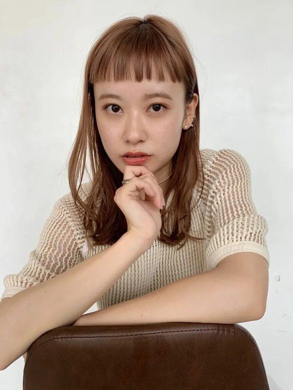 短め前髪×ミディアム10